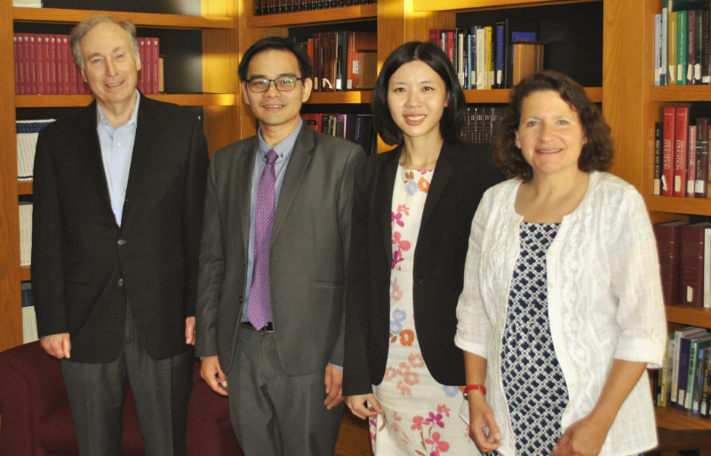 Dean and Assistant Dean visits school of law, University at Buffalo, USA